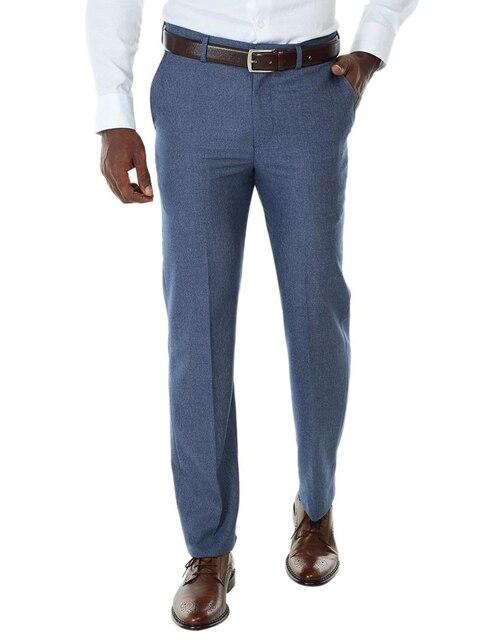 65bbe7d09a8ec Pantalón de vestir Perry Ellis corte regular azul jaspeado Precio ...