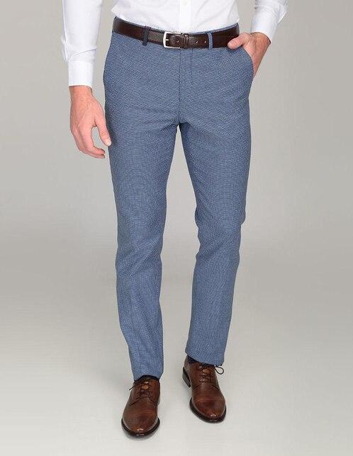 01545a1169b08 Pantalón de vestir Perry Ellis corte slim azul con diseño gráfico