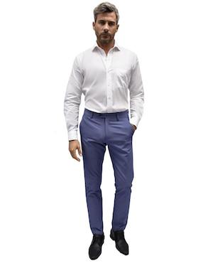0f0c328e74 Pantalón de vestir Tommy Hilfiger corte slim azul .