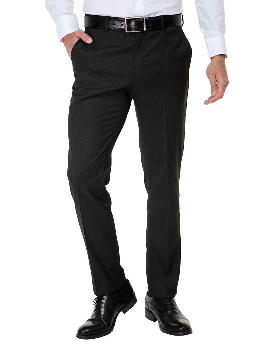 21f46870ce298 Pantalón de vestir a rayas Perry Ellis corte slim fit gris ...