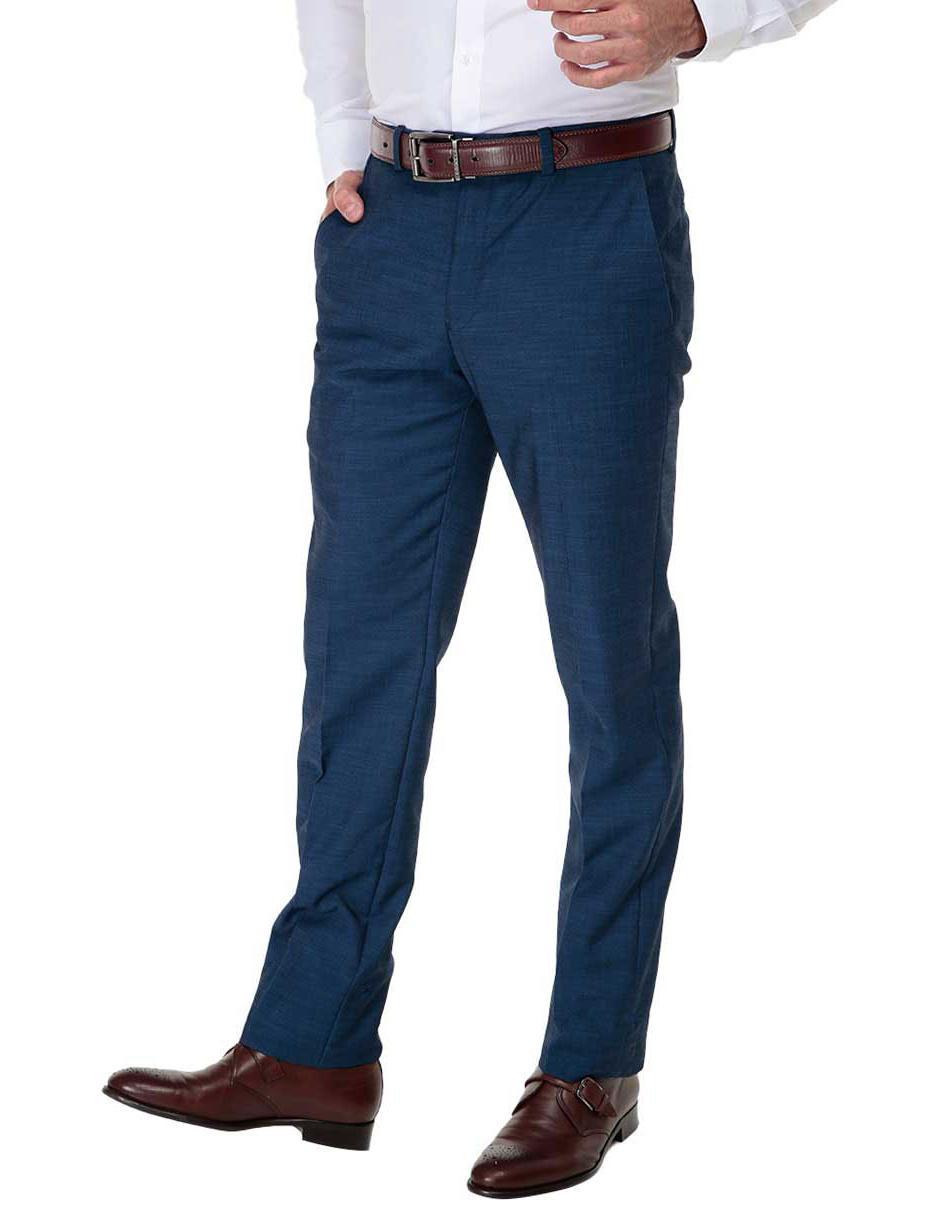 Pantalon De Vestir Calvin Klein Corte Regular Azul En Liverpool