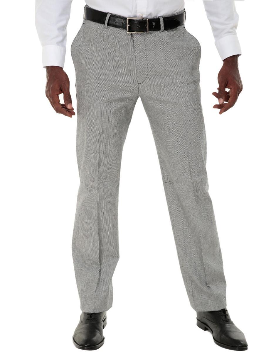 7c86aef281b31 Pantalón de vestir Perry Ellis corte slim negro con diseño gráfico